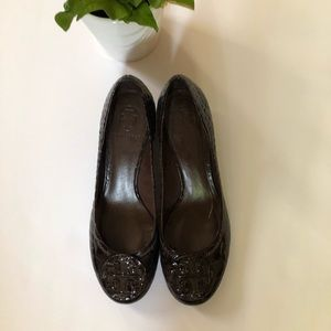 Tory Burch Brown Patent Leather Shoes Sz: 8M